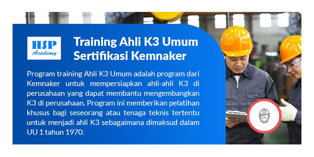 Training Ahli K3 Umum Kemnaker